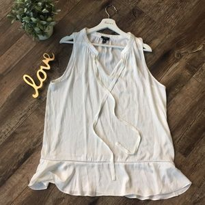 Mossimo Flowy White Blouse